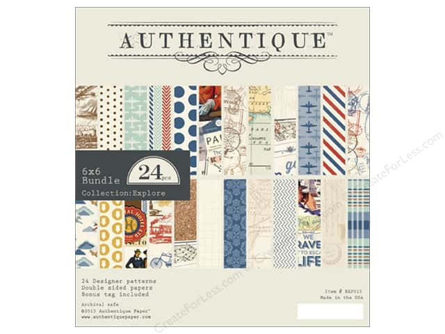 Authentique 6 x 6 in. Paper Bundle Explore Collection