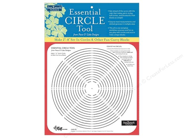 C&T Publishing Fast2Mark Essential Circle Tool From Piece O' Cake Designs