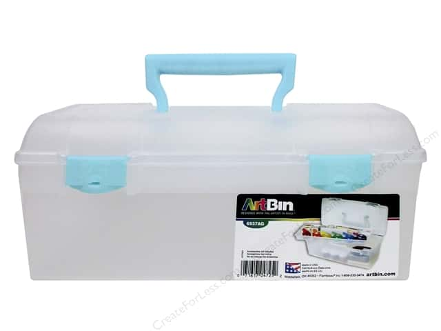 ArtBin Essentials Lift-Out Tray Box Aqua
