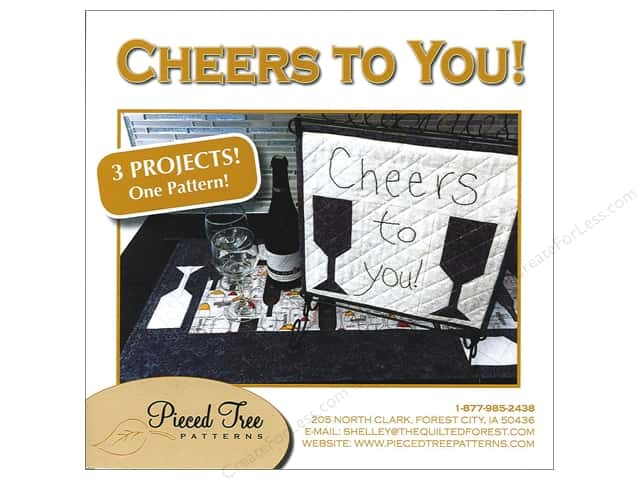 Pieced Tree Cheers To You 3 in 1 Pattern
