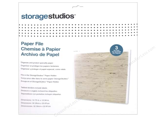Storage Studios Vertical Organizers Paper File 3 pc.