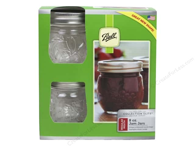 Ball Jam Jars 8 oz. Regular Mouth 4 pc.