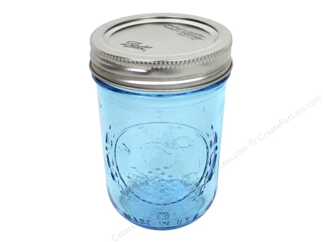 Ball Mason Jars 8 oz. Half Pint Regular Mouth Blue (12 pieces)
