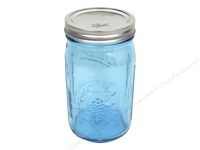 Ball Mason Jars 32 oz. Quart Wide Mouth Blue (12 pieces)