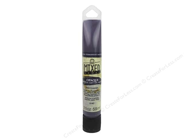 Plaid FolkArt Mixed Media Acrylic Soft Gel Paint 2 oz. Opaque Mauve