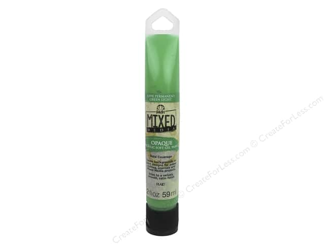 Plaid FolkArt Mixed Media Acrylic Soft Gel Paint 2 oz. Opaque Light Green