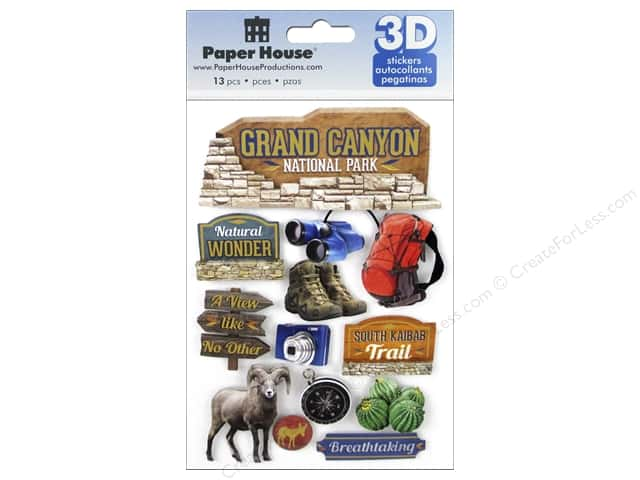 Paper House Sticker 3D Grand Canyon