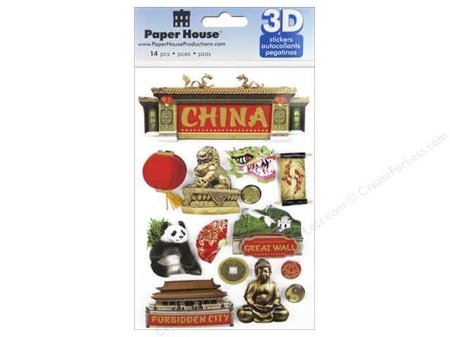 Paper House Sticker 3D China