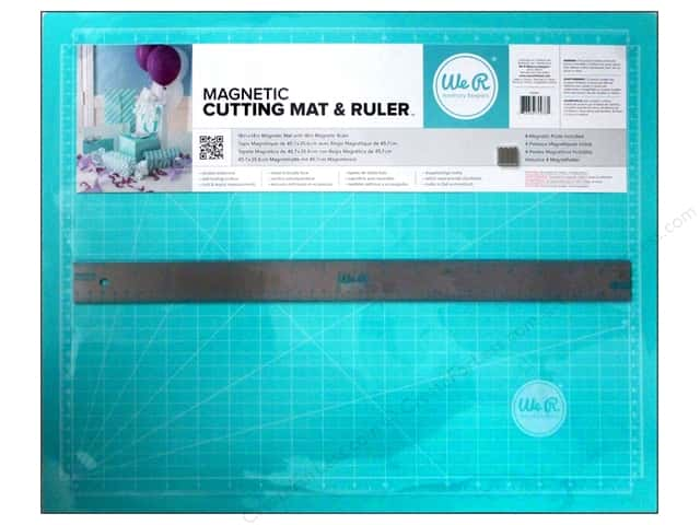 "We R Memory Magnetic Cutting Mat & Ruler 18"" Teal"