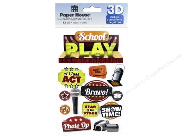 Paper House Sticker 3D School Play