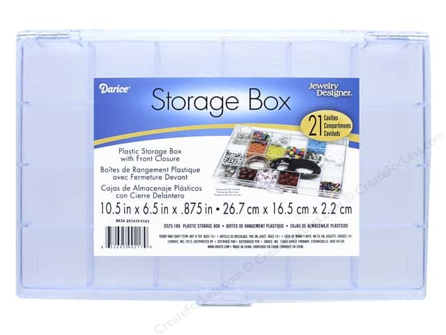 Darice Storage Box 10 1/2 x 6 1/2 x 7/8 in. with 21 Compartments