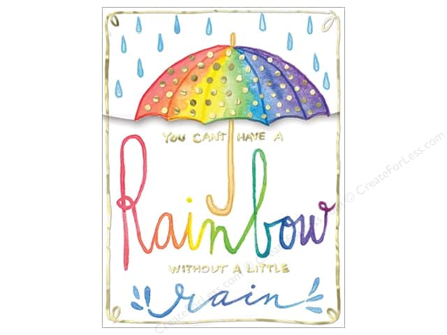 Molly & Rex Pocket Note Pad Words In Bloom Rainbow Umbrella