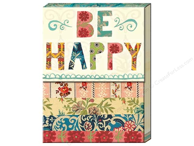 Molly & Rex Pocket Note Pad Words In Bloom Be Happy Patchwork