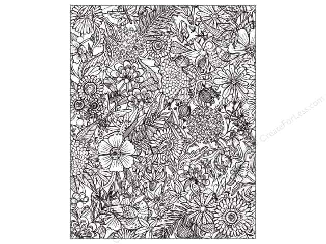 American Crafts Adult Coloring Folder 9 1/2 x 12 in. Hall Pass Floral