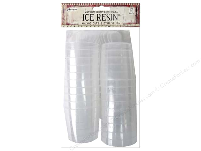Ranger ICE Resin Mixing Cups & Sticks 20pc