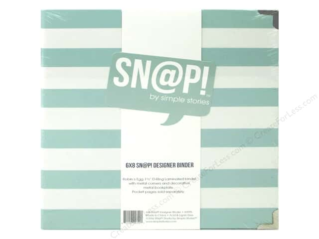 "Simple Stories Album Snap Binder 6""x 8"" Robin's Egg"