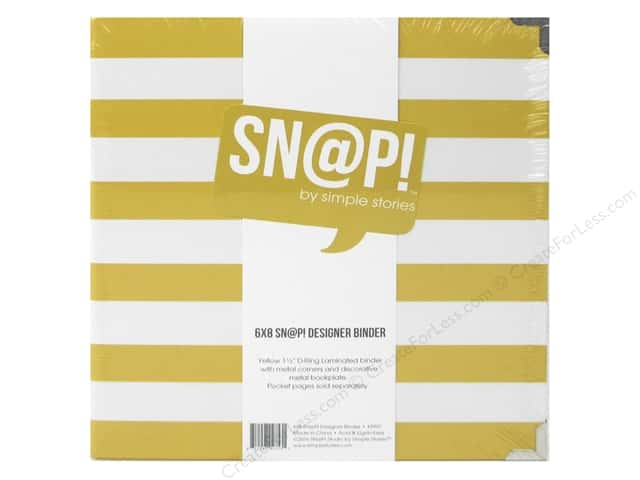 "Simple Stories Album Snap Binder 6""x 8"" Yellow"