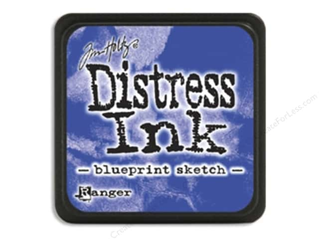 Tim Holtz Distress Mini Ink Pad by Ranger Blueprint Sketch