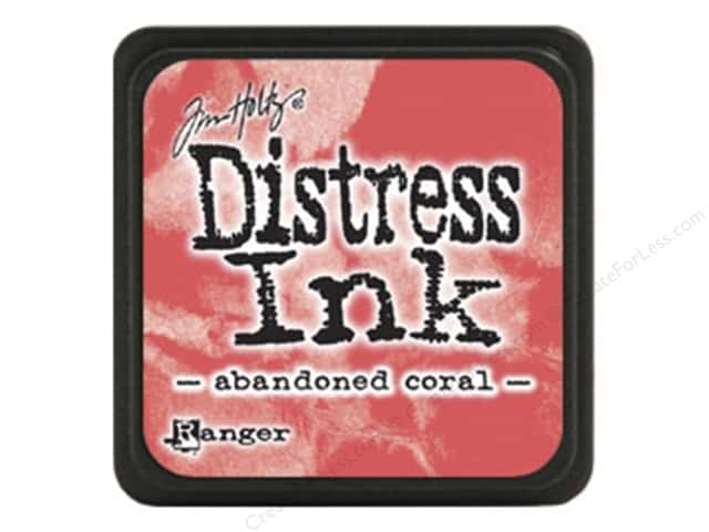 Tim Holtz Distress Mini Ink Pad by Ranger Abandoned Coral