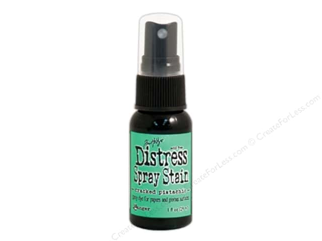 Tim Holtz by Ranger Distress Stain Spray 1 oz. Cracked Pistachio
