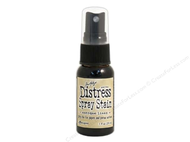 Tim Holtz by Ranger Distress Stain Spray 1 oz. Antique Linen