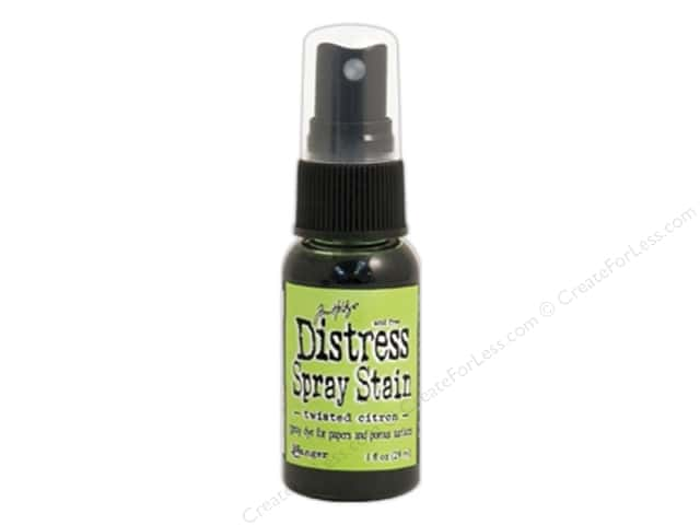 Tim Holtz by Ranger Distress Stain Spray 1 oz. Twisted Citron