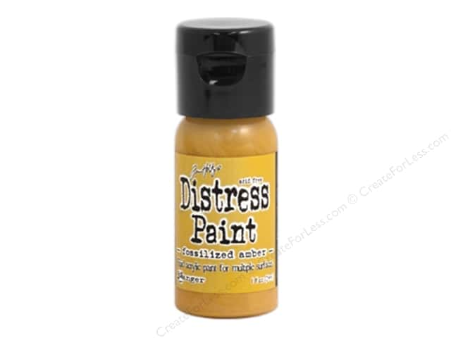 Tim Holtz Distress Paint by Ranger 1 oz. Fossilized Amber