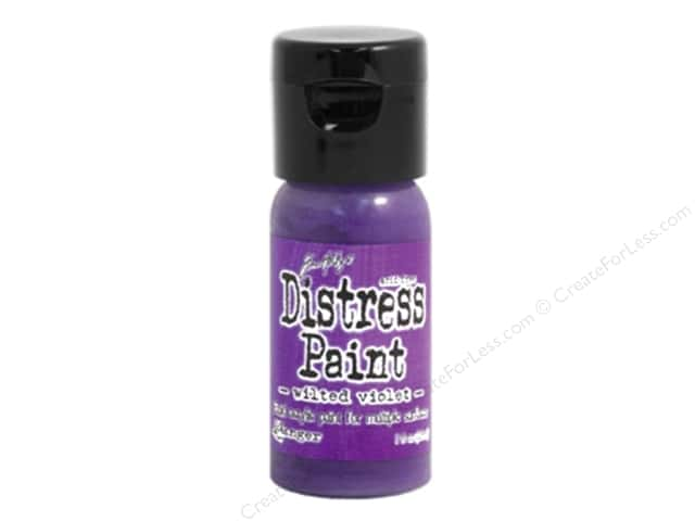 Tim Holtz Distress Paint by Ranger 1 oz. Wilted Violet