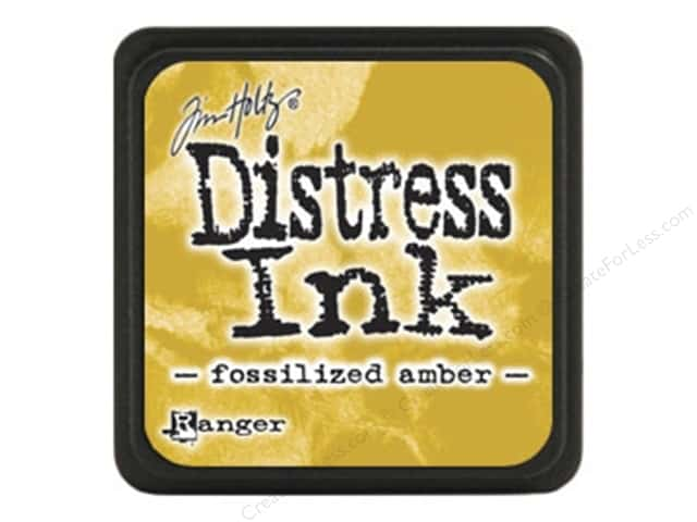 Tim Holtz Distress Mini Ink Pad by Ranger Fossilized Amber