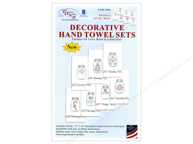 Jack Dempsey Decorative Hand Towel Holidays of Week 7pc