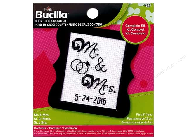 Bucilla Counted Cross Stitch Kit 2 1/2 in. Mini Mr & Mrs