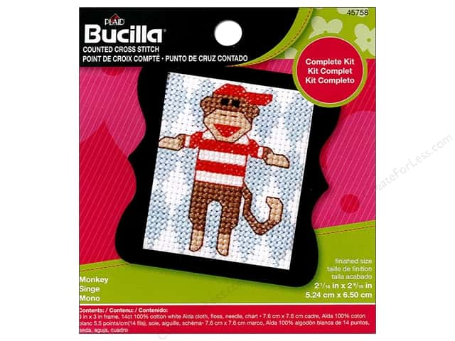 Bucilla Counted Cross Stitch Kit 2 1/2 in. Mini Monkey