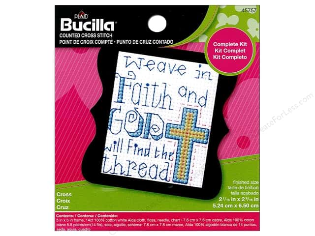Bucilla Counted Cross Stitch Kit 2 1/2 in. Mini Cross