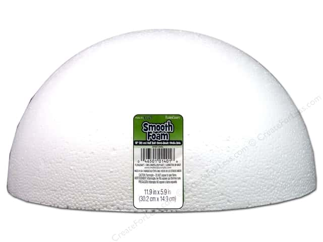 FloraCraft Smooth Foam Hollow Half Ball 12 in. 1 pc.