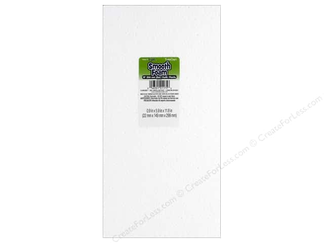 FloraCraft Smooth Foam Sheet 1 x 6 x 12 in. 1 pc.