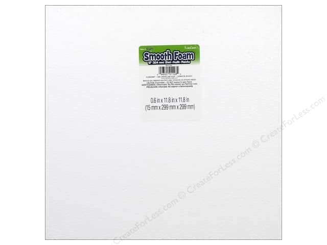 FloraCraft Smooth Foam Sheet 5/8 x 12 x 12 in. 1 pc.