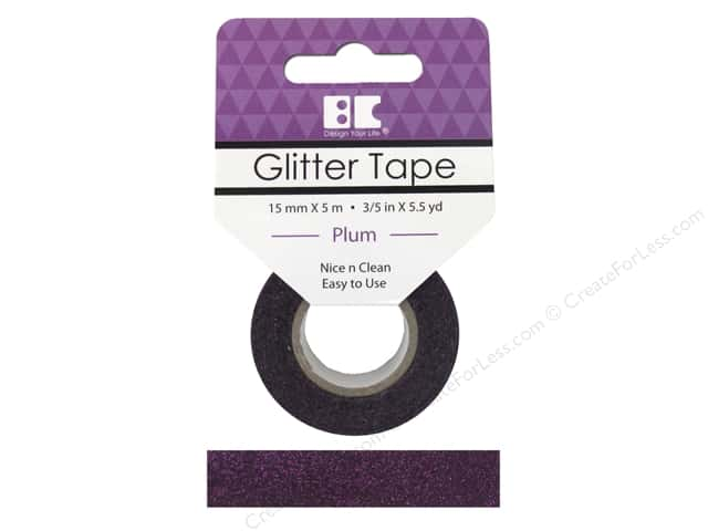 Best Creation Glitter Tape 5/8 in. x 5 1/2 yd. Plum