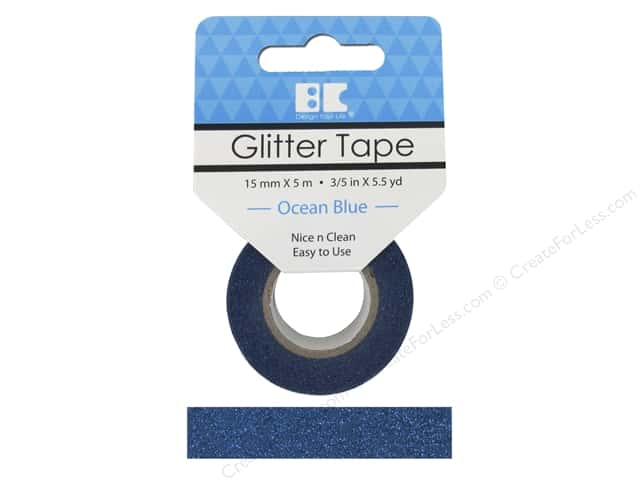 Best Creation Glitter Tape 5/8 in. x 5 1/2 yd. Ocean Blue