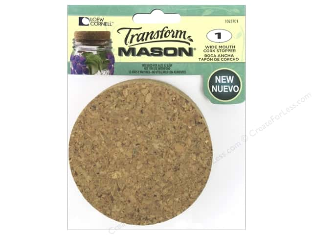 Loew Cornell Transform Mason Cork Stopper Wide Mouth