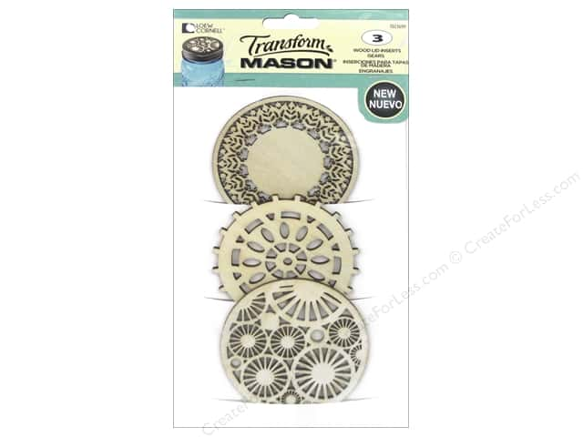 Loew Cornell Transform Mason Wood Lid Inserts 3 pc. Gears