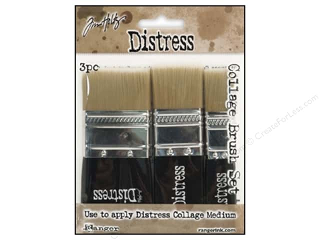 Tim Holtz Distress Collage Brushes by Ranger 3 pc