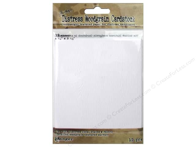 Tim Holtz Distress Cardstock by Ranger 12 pc. Woodgrain