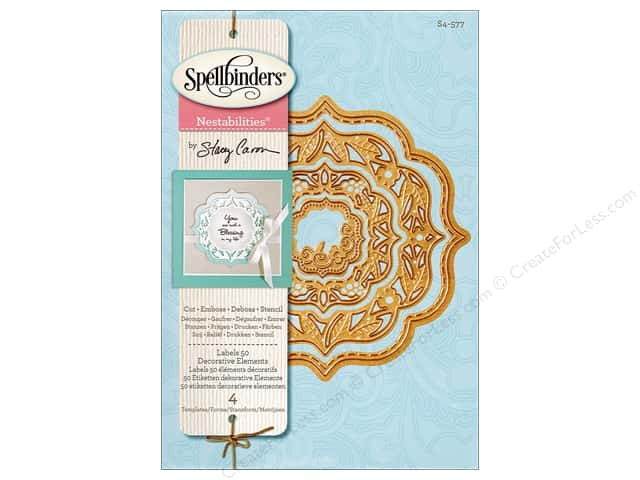 Spellbinders Nestabilities Die Labels 50 Elements