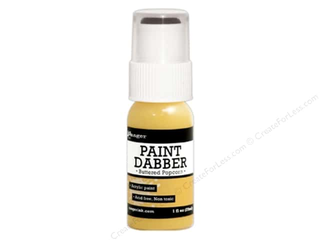 Ranger Acrylic Paint Dabbers 1 oz. Buttered Popcorn