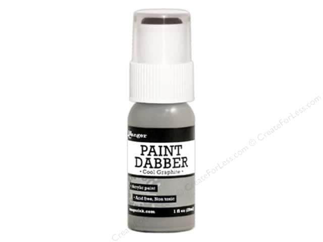 Ranger Acrylic Paint Dabbers 1 oz. Cool Graphite
