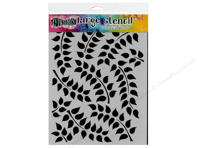 Ranger Dylusions 9 x 12 in. Stencil Fronds of Foliage