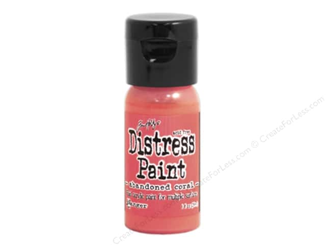 Tim Holtz Distress Paint by Ranger 1 oz. Abandoned Coral