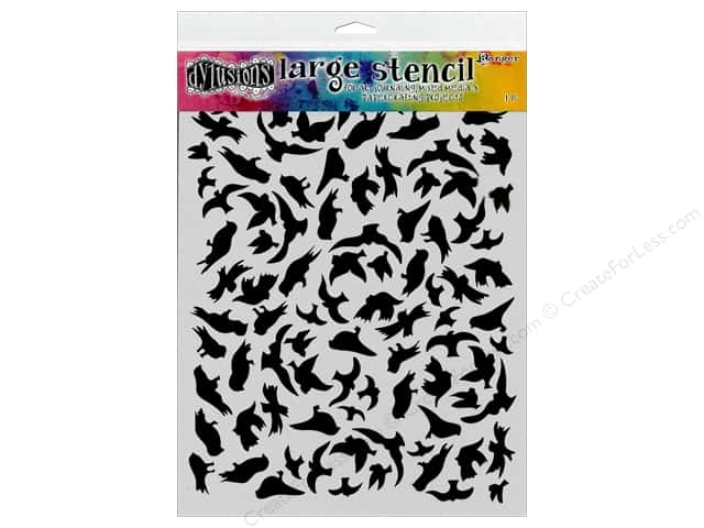 Ranger Dylusions 9 x 12 in. Stencil Breeze Of Birds