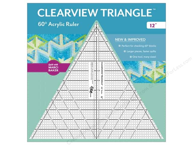 C&T Publishing Clearview Triangle 60 Degree Acrylic Ruler