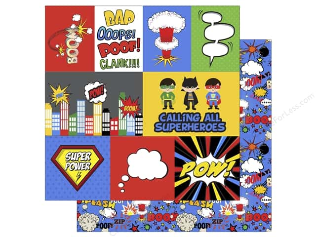 Echo Park 12 x 12 in. Paper Superhero Journaling Cards (15 sheets)